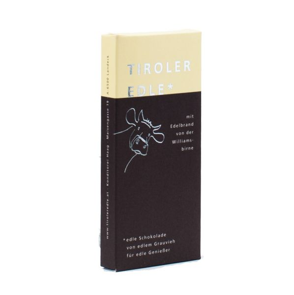 Tiroler Edle | Schokolade mit Edelbrand von der Williamsbirne