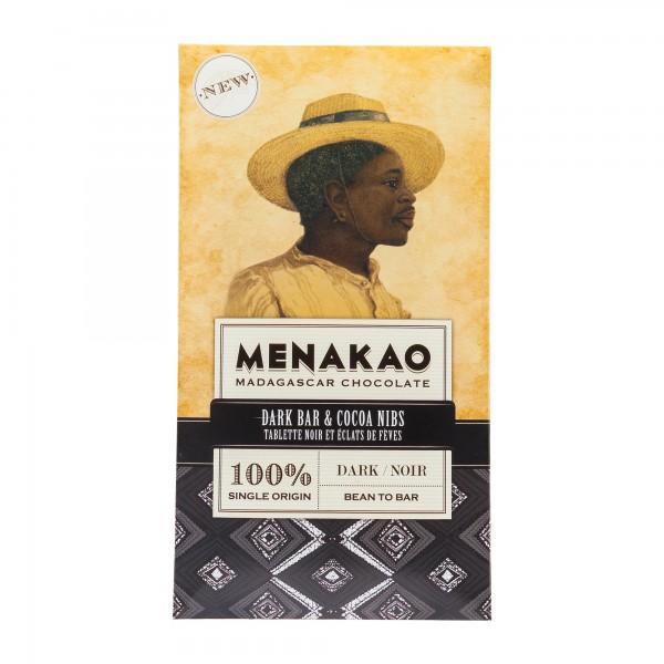 Menakao   Schokolade 100% Kakao Nibs