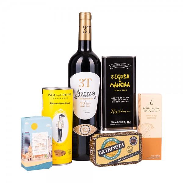 Feinkost Präsentkiste | Spanien Deluxe | Geschenk für Feinschmecker