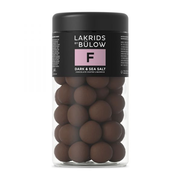 Lakrids by Bülow | F | Dark Sea Salt | Regular | 295g