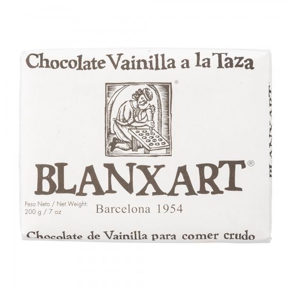 Blanxart Schokolade | Trinkschokolade in Tafelform mit Vanille | 200g
