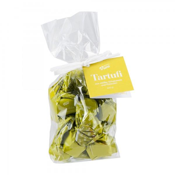 Viani | Tartufi dolci al pistacchio | weiße Schokoladentrüffel mit Pistazien | 200g