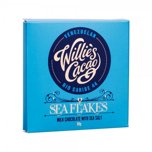 Willies Cacao Schokolade Sea Flakes 44%