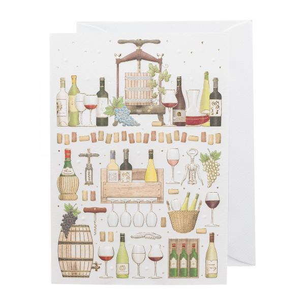 Grußkarte | Wein schenken | Classic