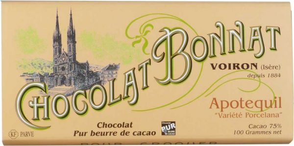 Bonnat Schokolade | Apotequil 75% | Porcelana Schokolade
