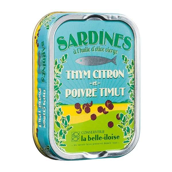 La belle-iIloise | Sardinen mit Zitronenthymian und Timut Pfeffer | 115g