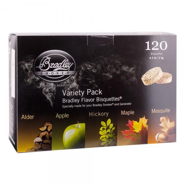 Bradley Smoker Räucher Bisquetten Variationen 120er
