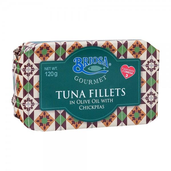 Briosa Gourmet | Thunfischfilet mit Kichererbsen in Olivenöl | 120g