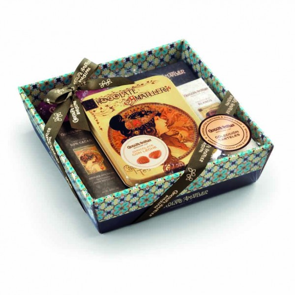 Amatller Schokolade Geschenkset Carteles