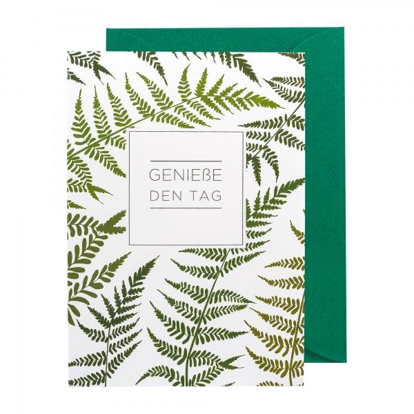 Grußkarte   Genieße den Tag   Botanic Bliss