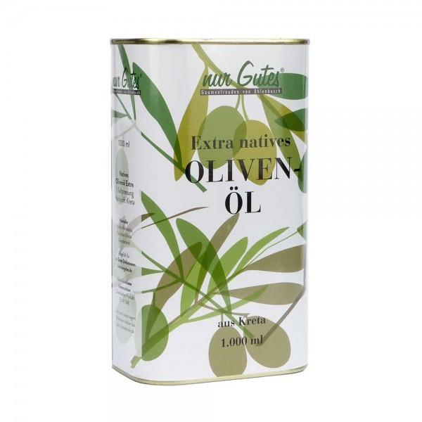 nur Gutes Olivenöl Extra Nativ aus Kreta 1000 ml