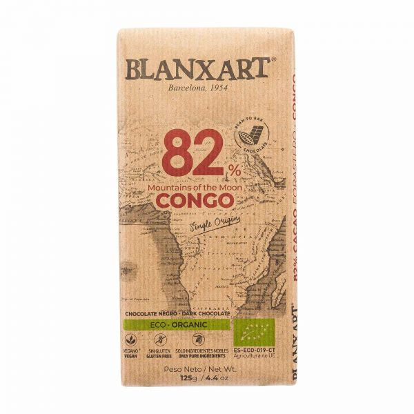 Blanxart Schokolade | Edelbitter Kongo 82%