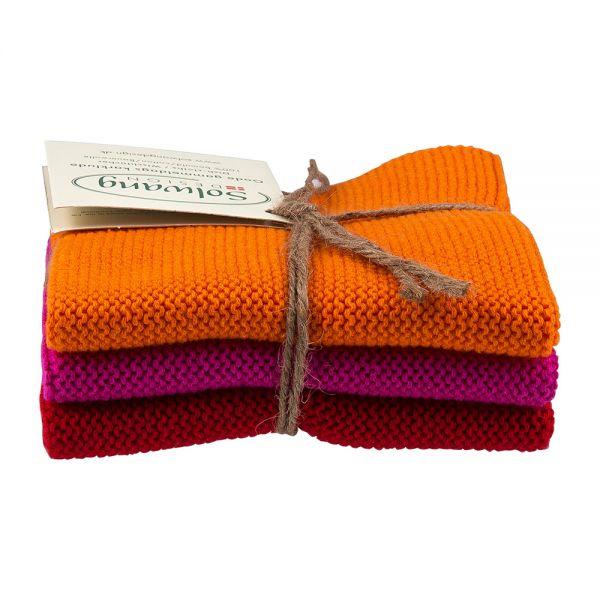 Solwang   Wischtücher 3er Set   Orange Pink Rot   126876