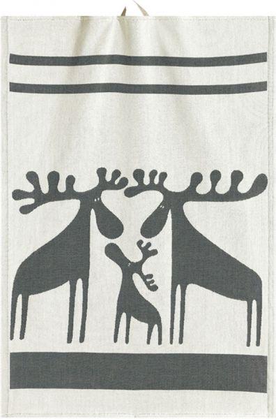 Ekelund | Älgfamilj Handtuch | 35x50cm