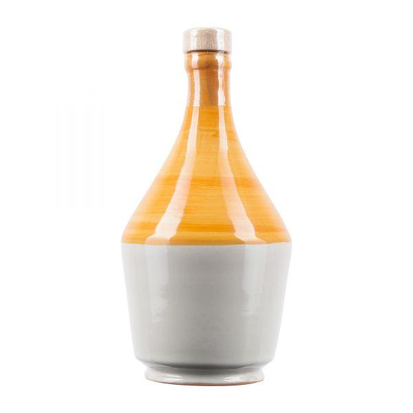 Frantoio di Perna   Olivenöl Keramikflasche orange weiß