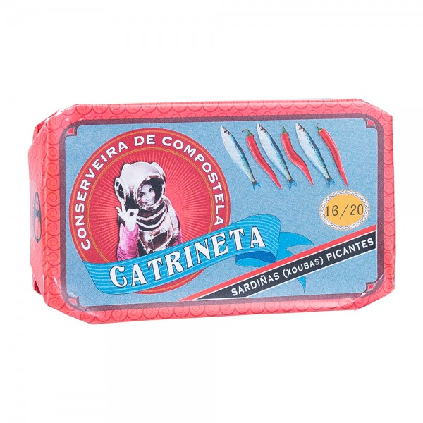 Catrineta Kleine Sardinen in Olivenöl mit Chili