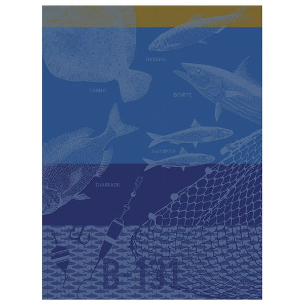 Geschirrtuch | Peche en mer | Blau