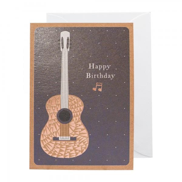 Grußkarte | Happy Birthday Gitarre | Copper