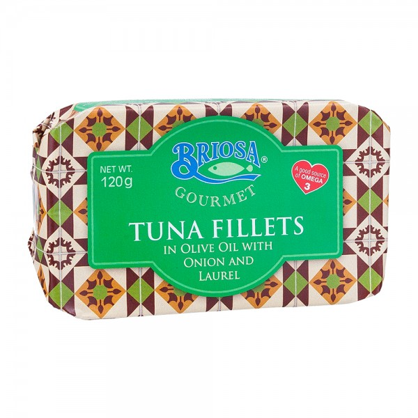 Briosa Gourmet   Thunfischfilet in Olivenöl mit Zwiebel und Lorbeerblatt   120g
