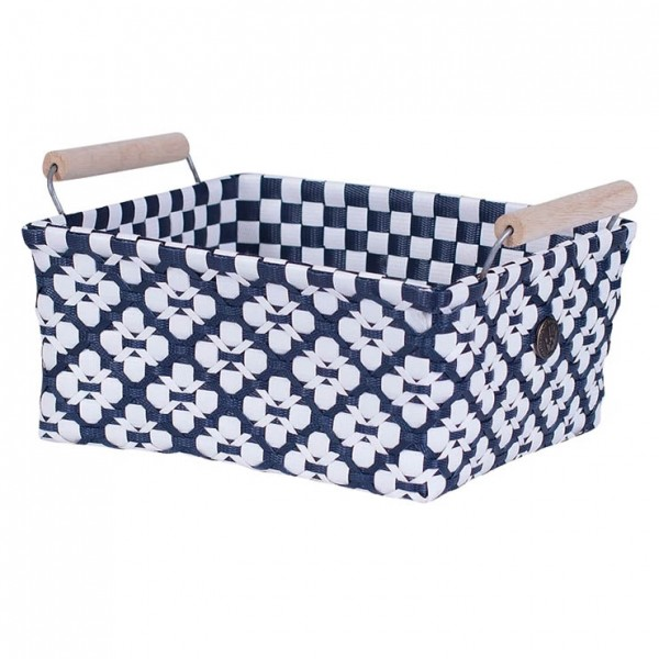 Handed By Korb | Motif mit Griff | navy s