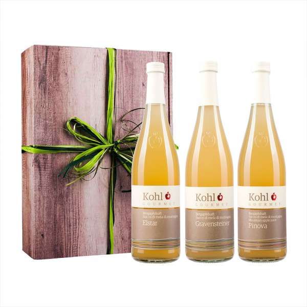 Kohl Gourmet | Bergapfelsaft 3er Geschenk
