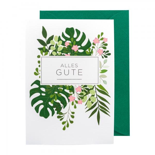 Grußkarte   Alles Gute   Botanic Bliss
