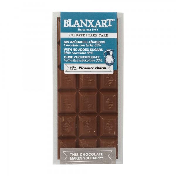Blanxart | zuckerfreie Schokolade | Vollmilch | 100g