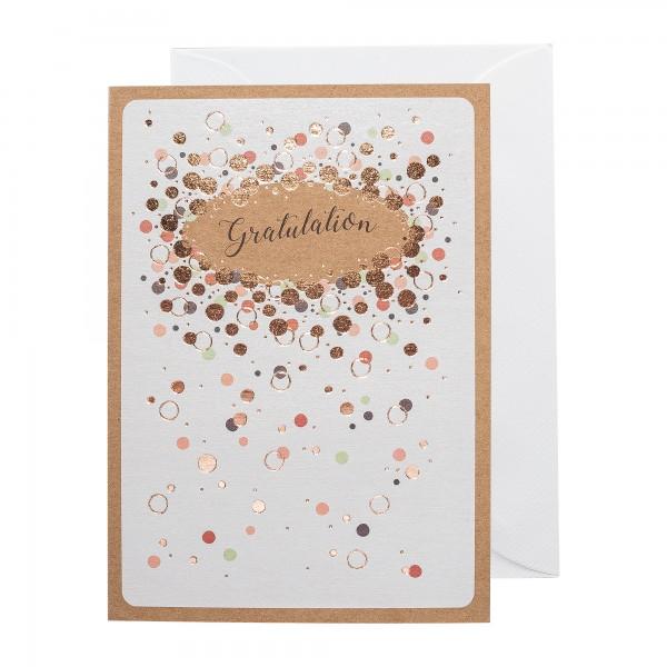Grußkarte | Gratulation | Copper