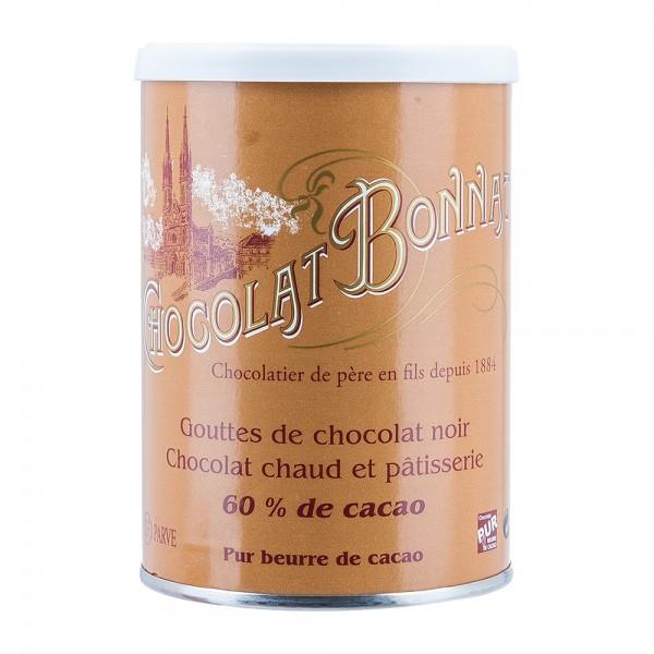 Bonnat Schokolade   Trinkschokolade 60%   Kakao Tropfen   250g