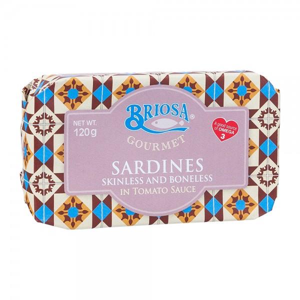 Briosa Gourmet | Sardinen ohne Haut und Gräten in Tomatensoße | 120g