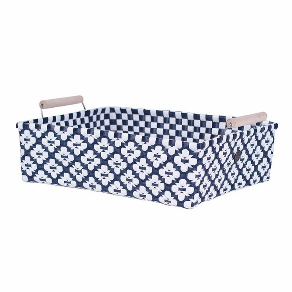 Handed By Korb | Motif mit Griff | navy L