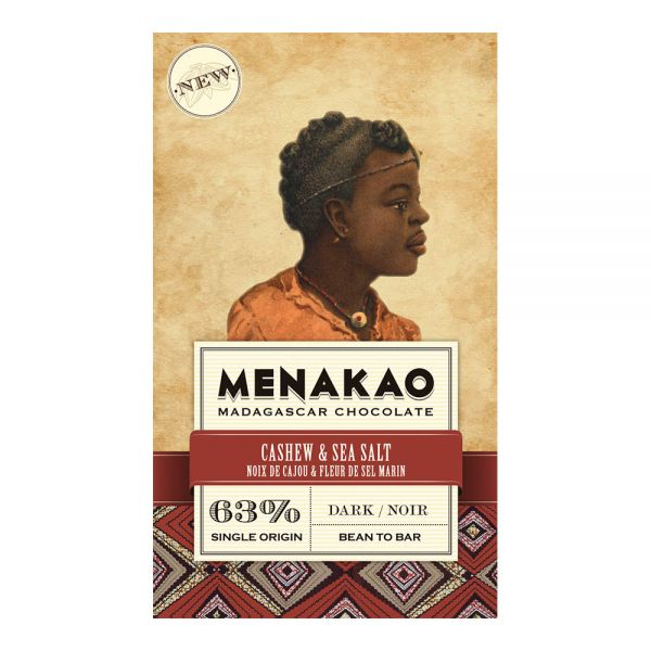 Menakao | Schokolade Cashew Meersalz | 75g
