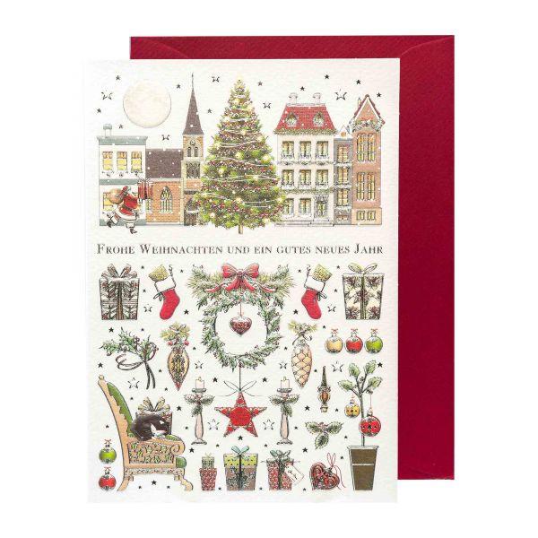 Weihnachtskarte | Frohe Weihnachten | Klassisch