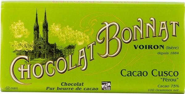 Bonnat Schokolade Cacao Cusco Peru 75%