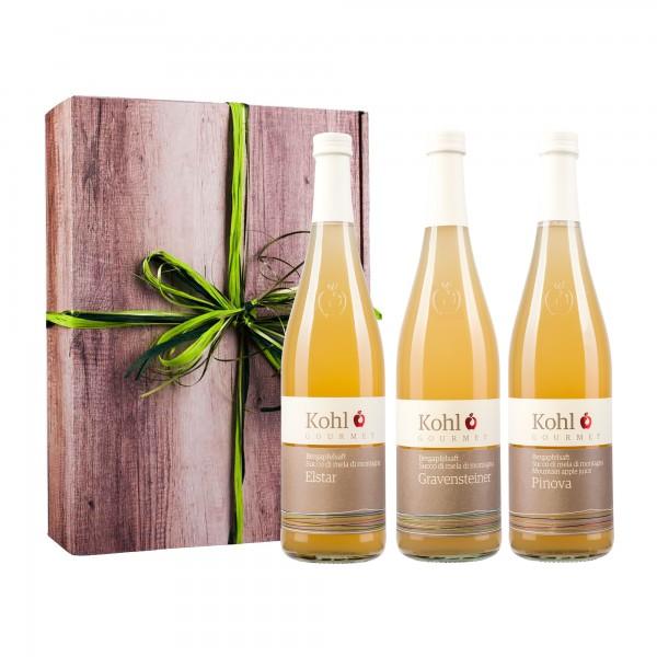 Kohl Gourmet Bergapfelsaft 3er Geschenk