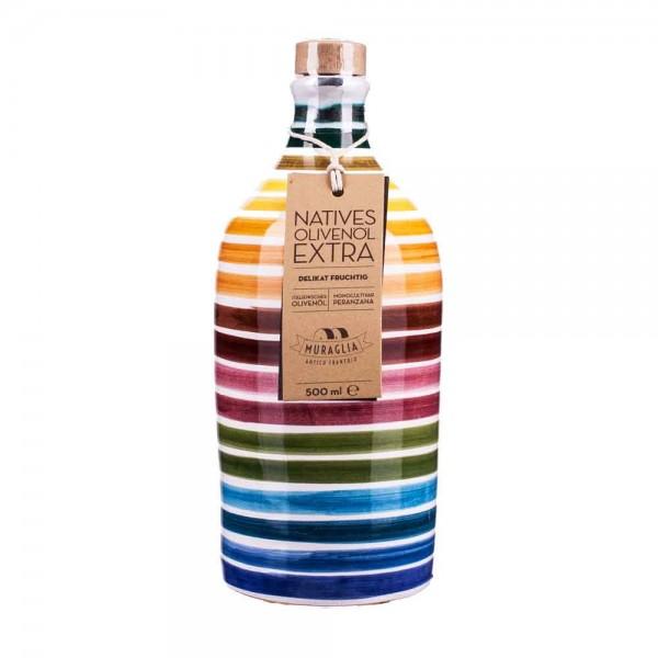 Muraglia | Olivenöl geringelte Keramikflasche