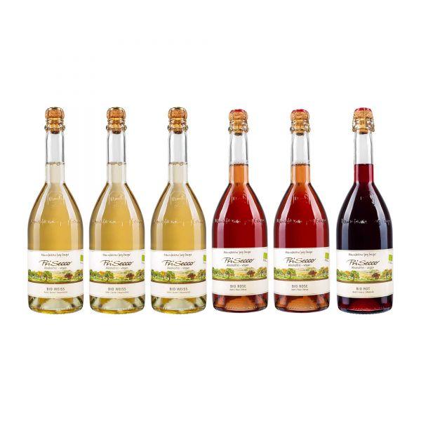 Prisecco Probierpaket | Die Bio Sorten | alkoholfrei