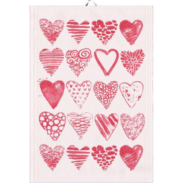 Ekelund | Hearts Geschirrtuch | 35x50cm