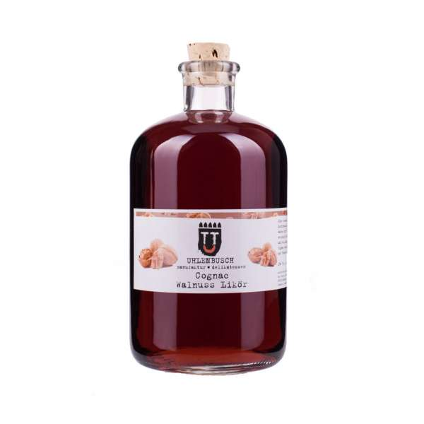 Manufaktur U | Cognac Walnuss Likör | 1000ml