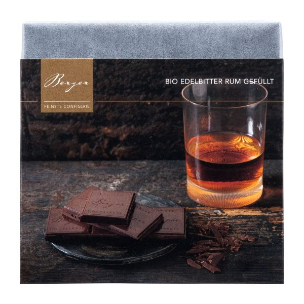 Berger Schokolade   Edelbitter Rum [BIO]