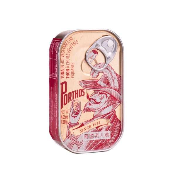 Porthos | Thunfisch in scharfem Würzöl | 125g