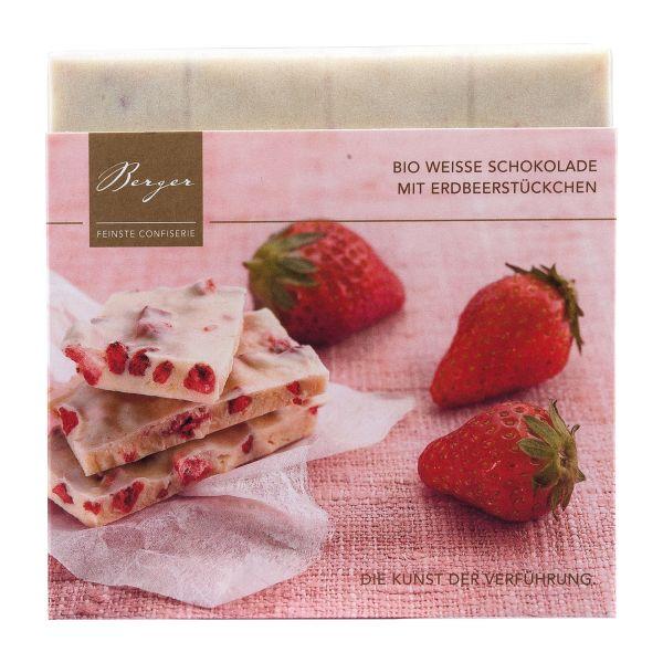 Berger Schokolade | Weiße Erdbeerstückchen [BIO] [FAIR]