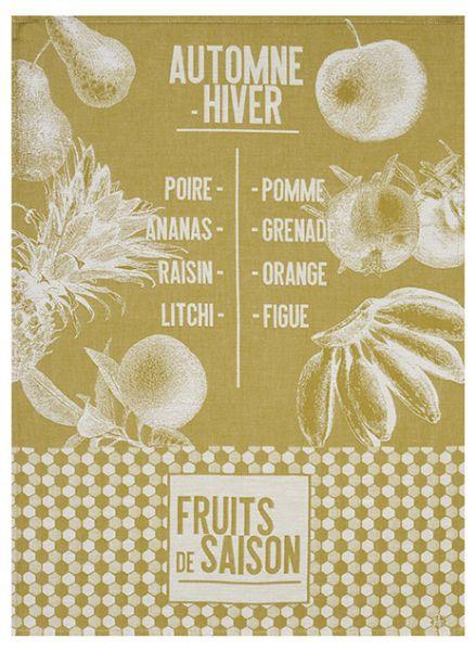 Geschirrtuch   Fruits de Saison   Gelb