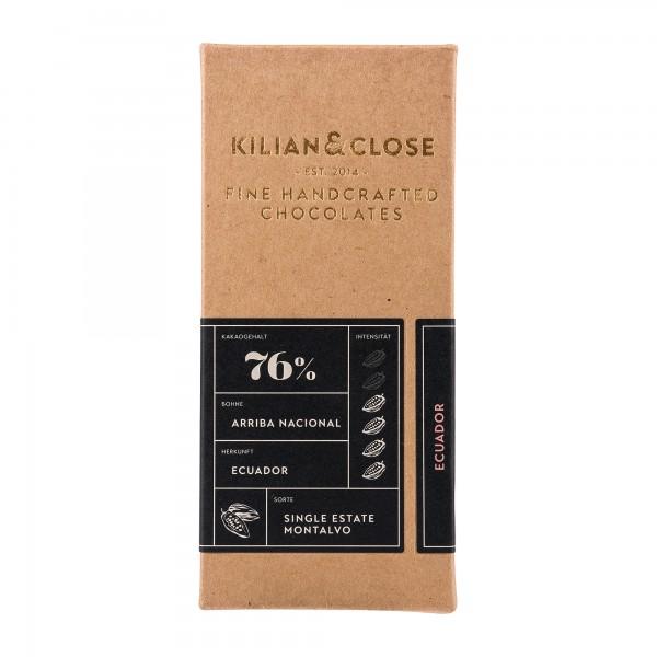 Kilian und Close | dunkle Schokolade 76% | Ecuador | 80g [BIO]