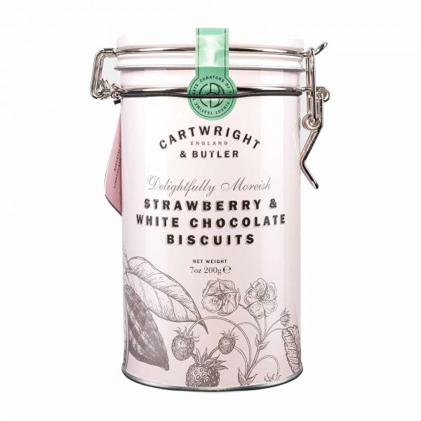 Cartwright & Butler | Strawberry White Chocolate Biscuits | 200g