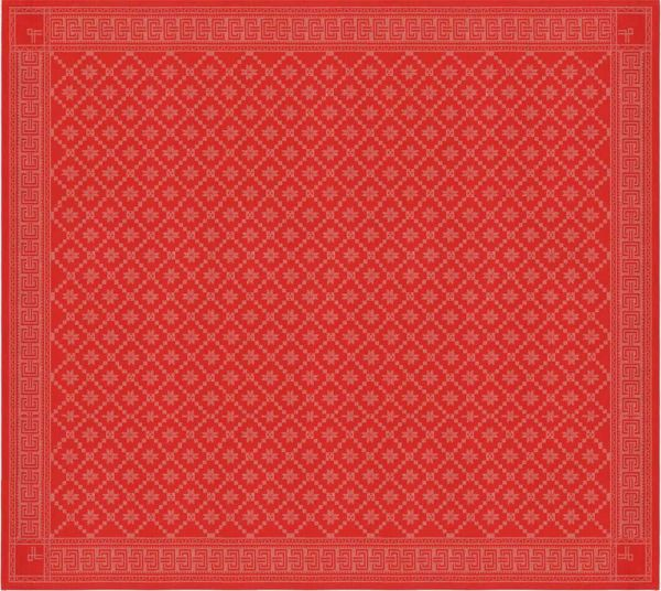 Ekelund | Attebladrose Tischdecke rot | 150x150cm