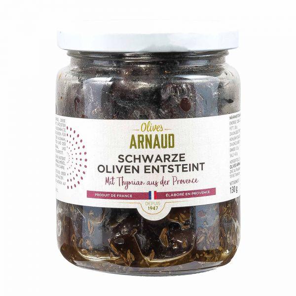 Arnaud | schwarze Oliven | entsteint