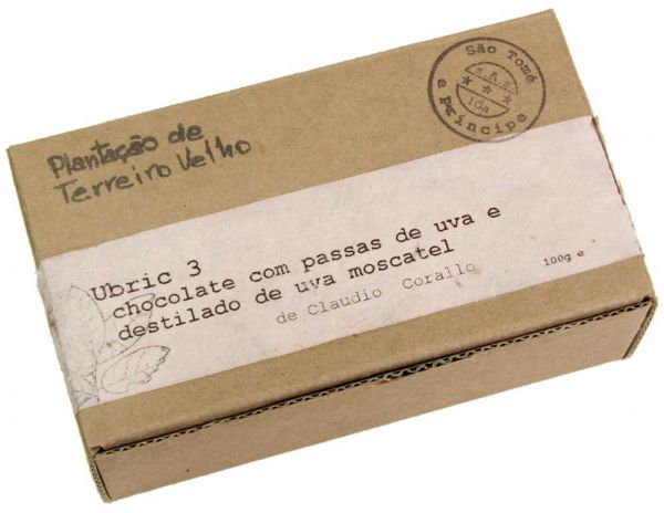 Claudio Corallo | dunkle Schokolade mit Rosinen | Ubric 3 Moscato 70% | 100g