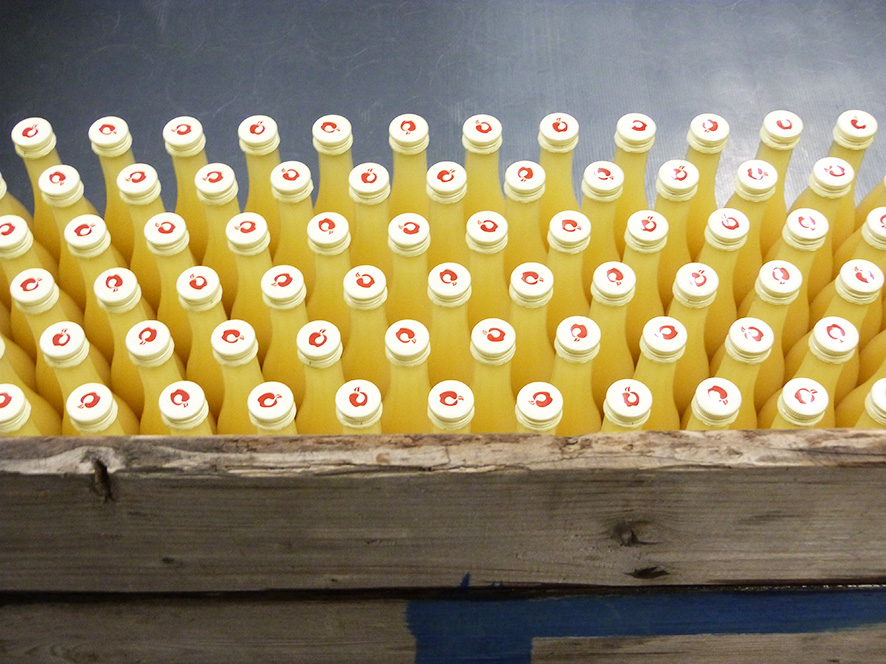 Kohl Apfelsaft Flaschen