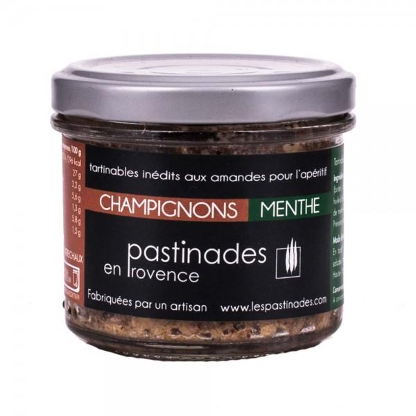Pastinades Champignons mit Minze Aperitif Creme